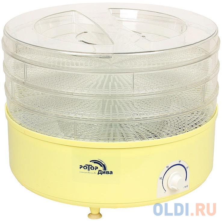 Сушилка для овощей и фруктов Ротор Дива СШ-007 прозрачный
