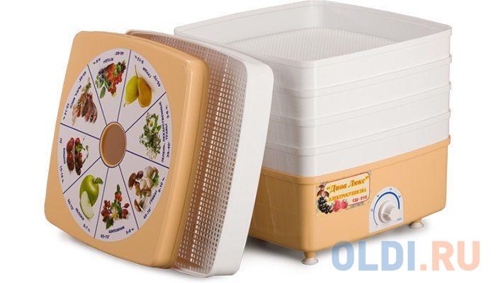 Сушилка для овощей и фруктов Ротор Дива Люкс СШ-010-04 белый 5 поддонов