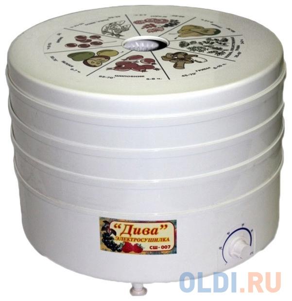 Сушилка для овощей и фруктов Ротор Дива СШ-007 белый
