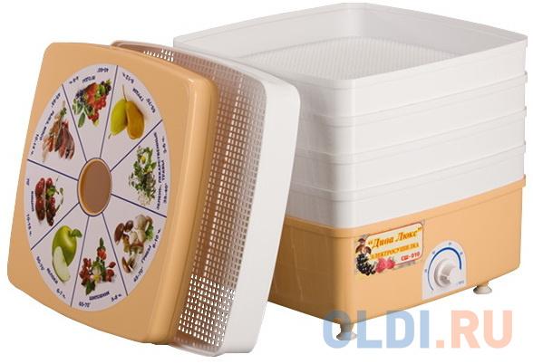 Сушилка для овощей и фруктов Дачница Дива-Люкс СШ-010-02 белый коричневый сушилка rix rxd 125 белый