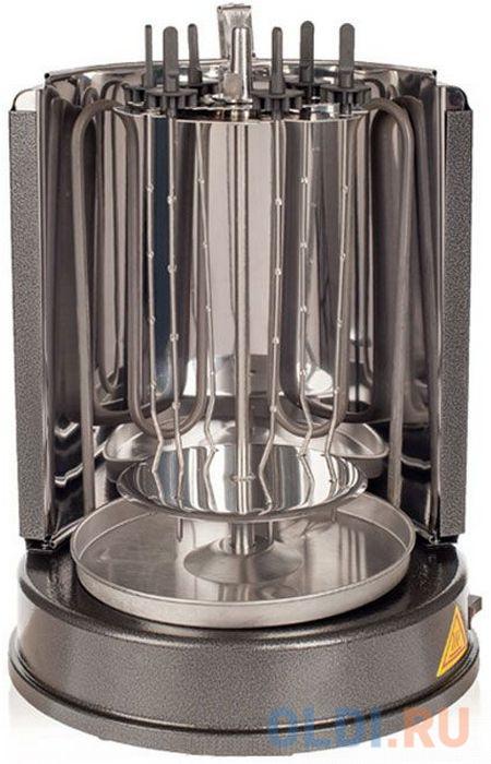 Электрошашлычница KITFORT KT-1404, шашлычница+гриль, без кожуха, чаша для сбора жира, 6 шампуров