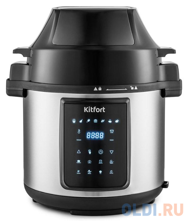Аэрогриль Kitfort КТ-215 1500Вт черный