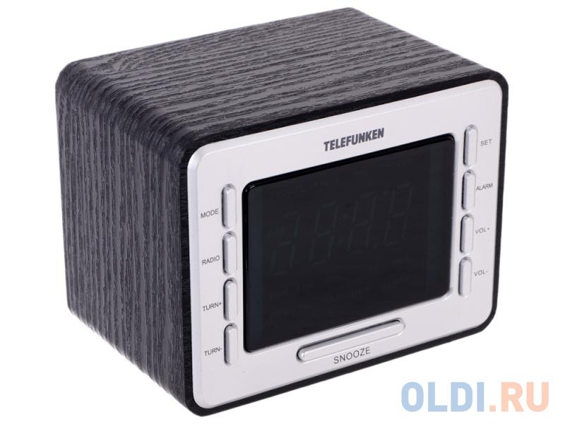 Часы с радиоприемником TELEFUNKEN TF-1508 (черный c зеленым)