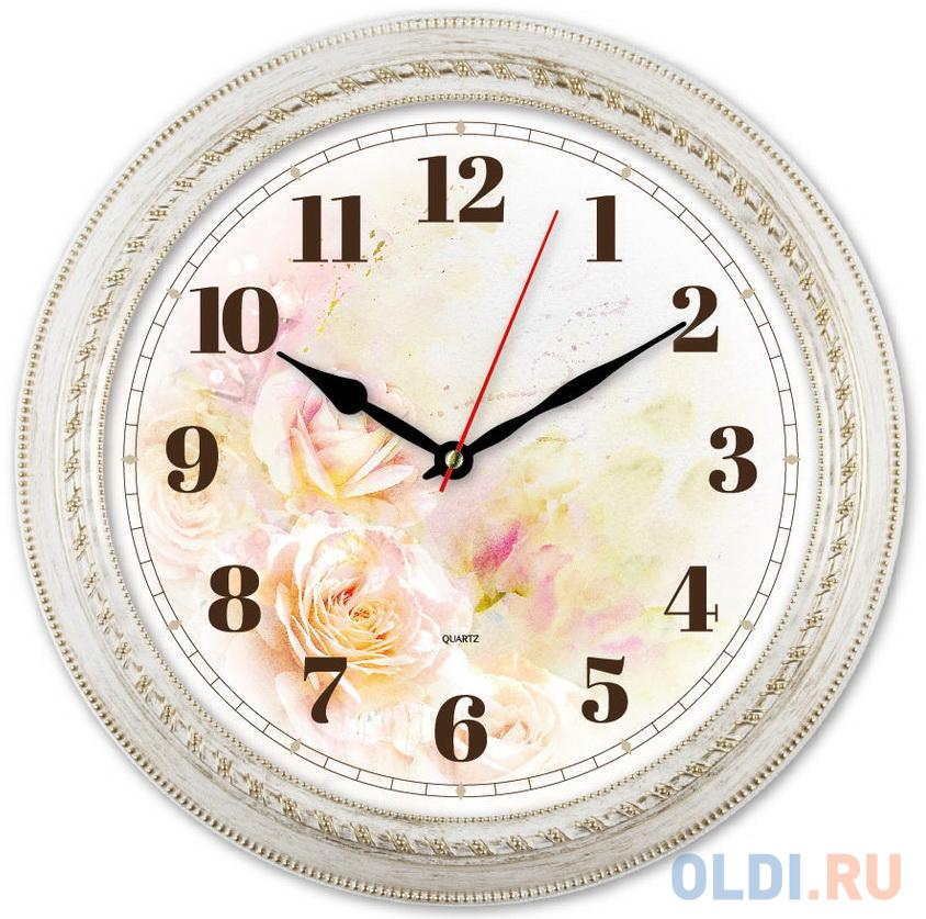 Часы настенные аналоговые Бюрократ WallC-R64P белый