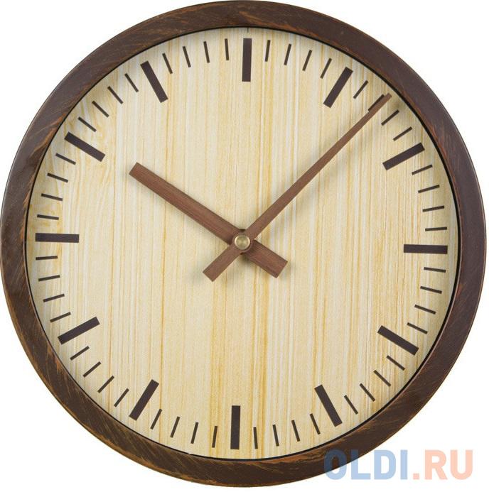 Фото - Часы настенные аналоговые Бюрократ Wood WALLC-R60P коричневый настенные фотокартины add color painting ts056698