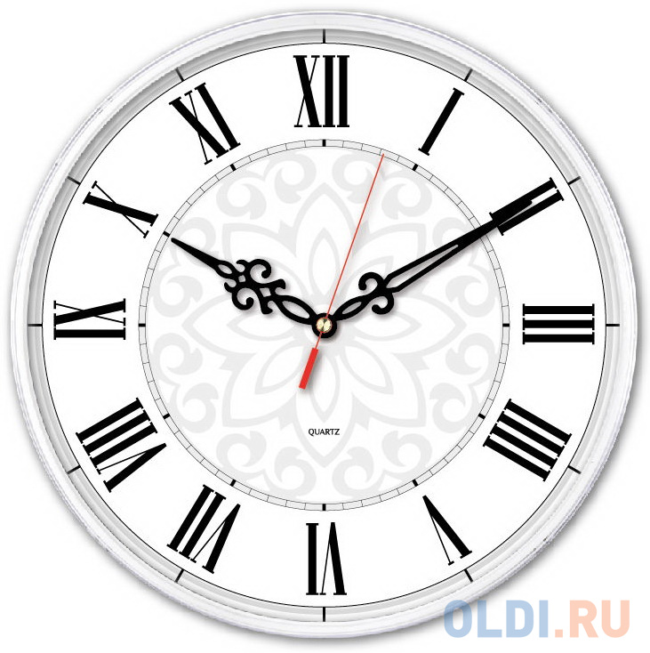 Часы настенные аналоговые Бюрократ WallC-R70P белый.