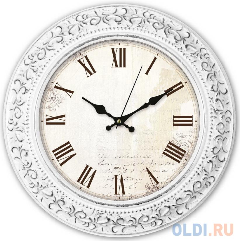 Часы настенные аналоговые Бюрократ WallC-R73P белый