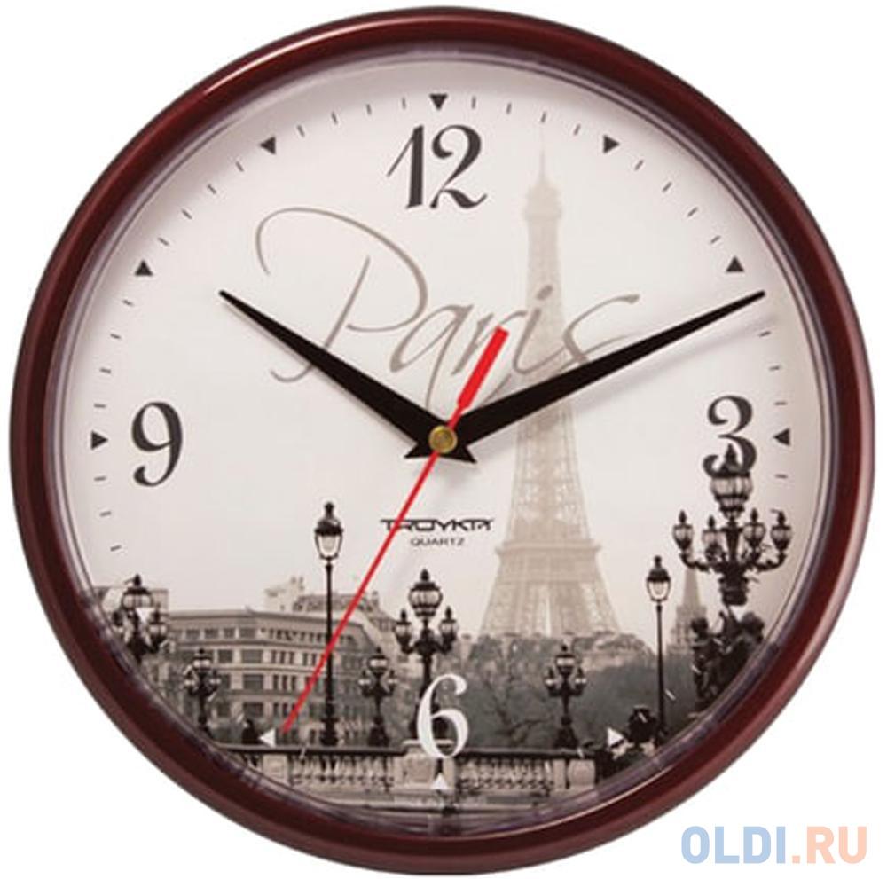 Часы настенные Troyka 91931927 рисунок коричневый.