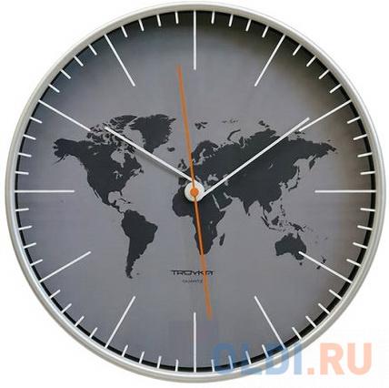Фото - Часы настенные TROYKA 77777733, круг, серые, серебристая рамка, 30,5х30,5х5 см настенные фотокартины add color painting ts056698