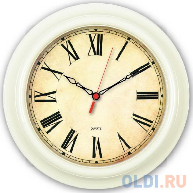 Фото - Часы настенные аналоговые Бюрократ WallC-R74P слоновая кость настенные фотокартины add color painting ts056698