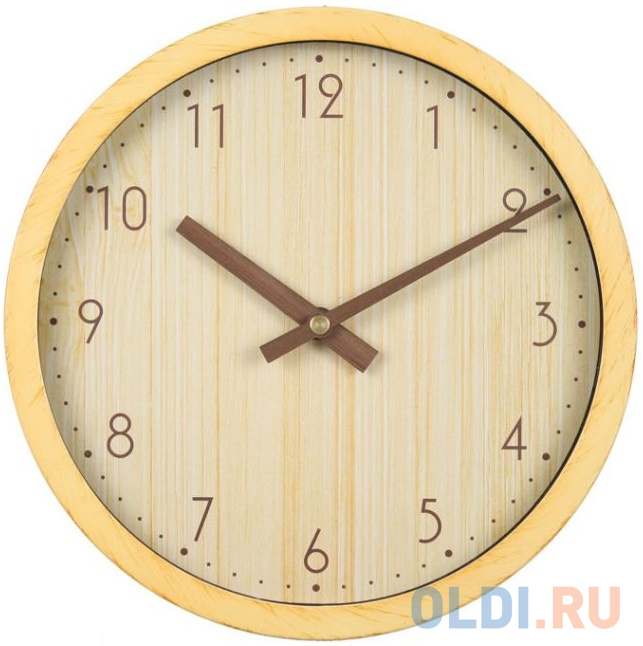 Фото - Часы настенные аналоговые Бюрократ Wood WALLC-R60P бежевый настенные фотокартины add color painting ts056698