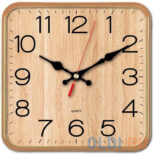 Часы настенные аналоговые Бюрократ WallC-S62P бежевый
