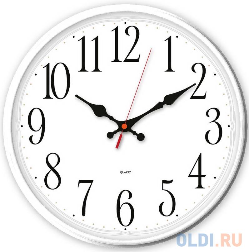 Фото - Часы настенные аналоговые Бюрократ WallC-R75P белый jimmy garmin vivomove мода спортивный зрелищный мониторинг активности смарт часы спортивная версия белый