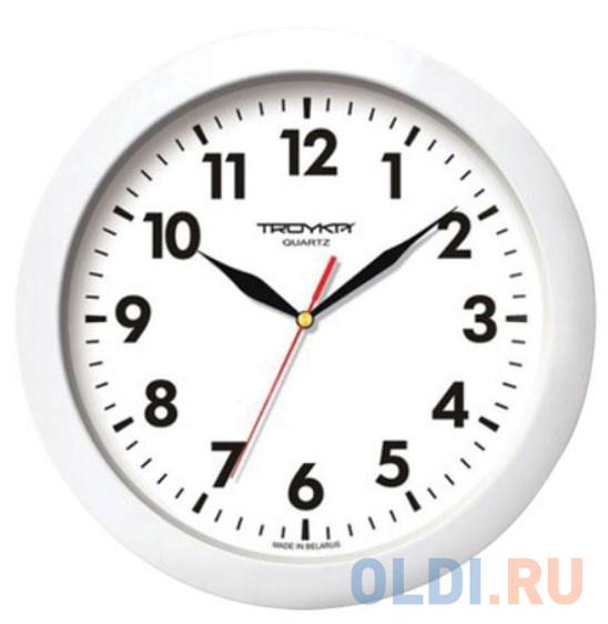 Часы настенные TROYKA 11110118 круг белые белая рамка 29х29х35 см.