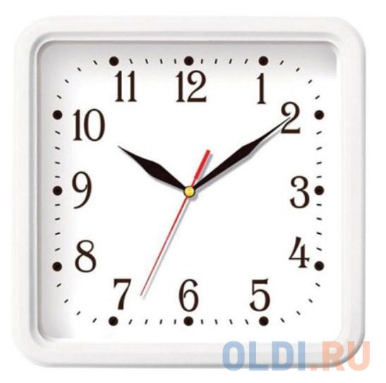 Часы настенные TROYKA 81810835 квадрат белые белая рамка 26х26х35 см.