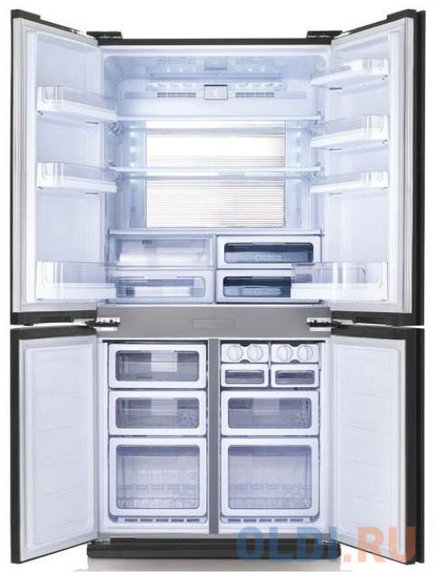 Холодильник Sharp/ 183x89.2x77.1 см, объем камер 394+211, No Frost, морозильная камера снизу,белый