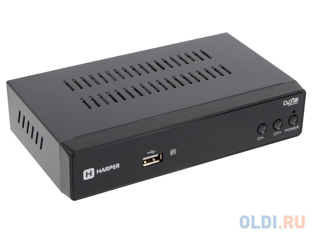 Фото - Цифровой телевизионный DVB-T2 ресивер HARPER HDT2-5010 экран, черный,Full HD, DVB-T, DVB-T2, поддержка внешних жестких дисков видео