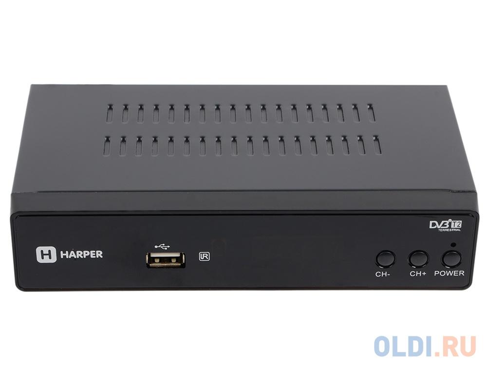 Фото - Цифровой телевизионный DVB-T2 ресивер HARPER HDT2-5050 с функцией FHD медиаплеера видео