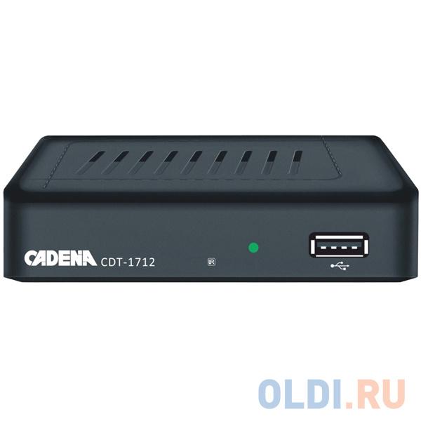 Фото - Цифровой телевизионный DVB-T2 ресивер CADENA CDT-1712 видео