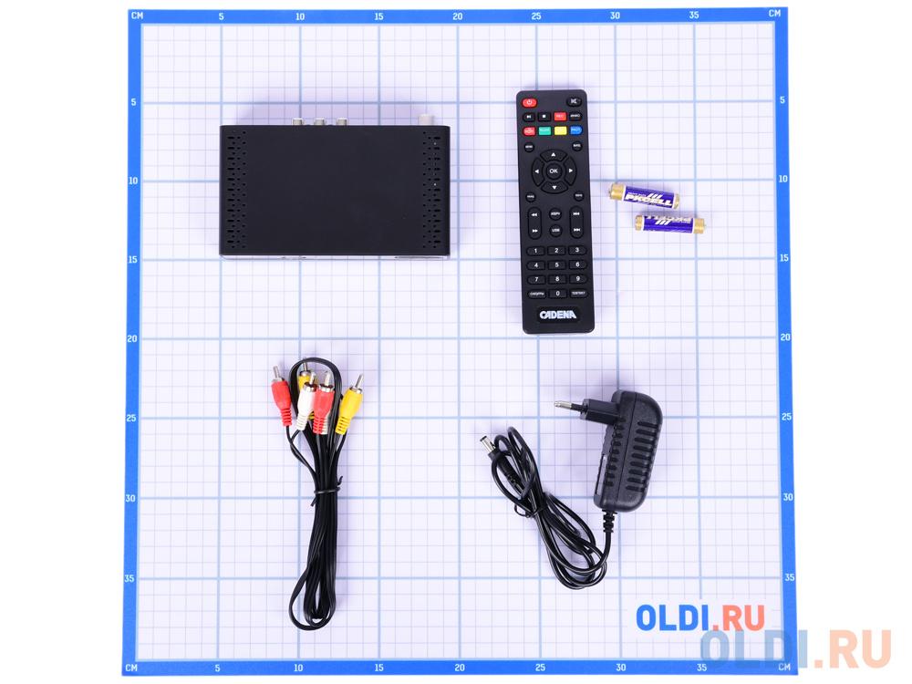 Цифровой телевизионный DVB-T2 ресивер CADENA CDT-1651SB
