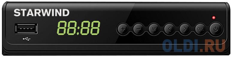 Ресивер DVB-T2 Starwind CT-280 черный tv тюнер starwind ct 200 черный