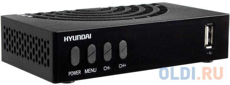 Ресивер DVB-T2 Hyundai H-DVB440 черный