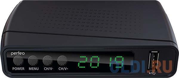 Фото - Perfeo DVB-T2/C приставка STREAM для цифр.TV, Wi-Fi, IPTV, HDMI, 2 USB, DolbyDigital, пульт ДУ perfeo dvb t2 c medium pf_a4487
