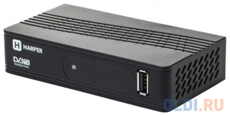 Фото - Цифровой телевизионный DVB-T2 ресивер HARPER HDT2-1202 Черный, Full HD, DVB-T, DVB-T2, поддержка внешних жестких дисков tv тюнер harper hdt2 1010