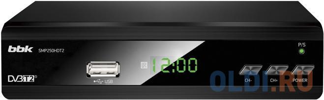 Ресивер DVB-T2 BBK SMP250HDT2 черный