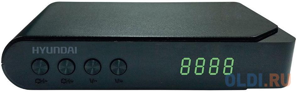 Тюнер цифровой DVB-T2 Hyundai H-DVB200 черный