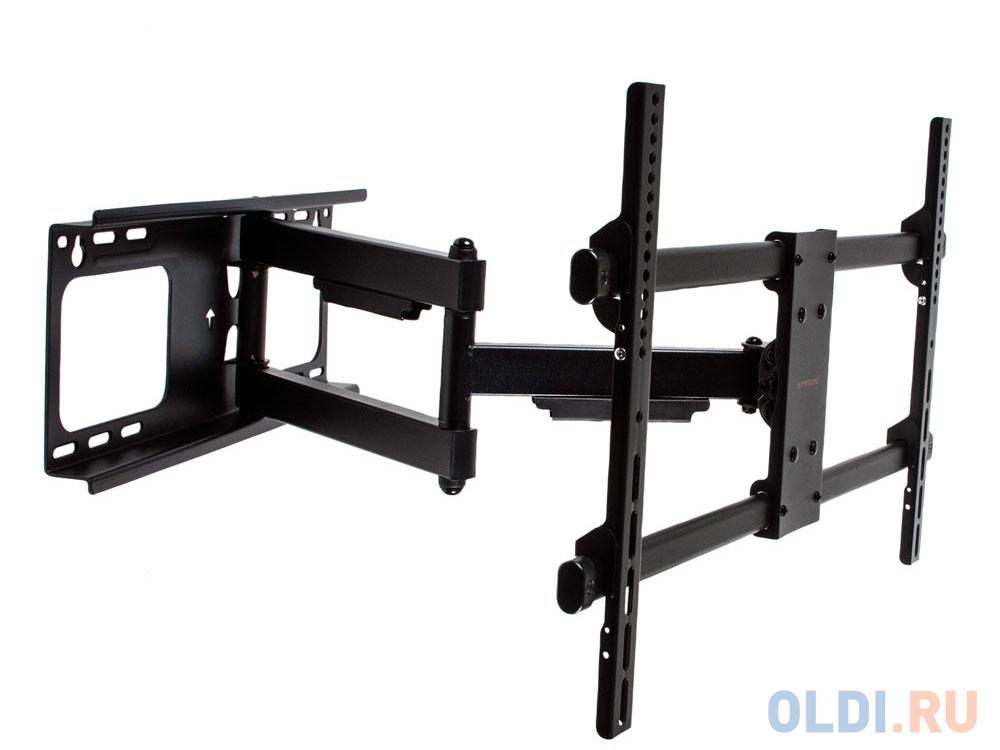 Фото - Кронштейн Arm media Paramount-60 черный, для LED/LCD TV 26-75, max 60 кг, настенный, 5 ст свободы, от стены 69-615 мм, max VESA 600x400 мм кронштейн на стену arm media paramount 60 черный