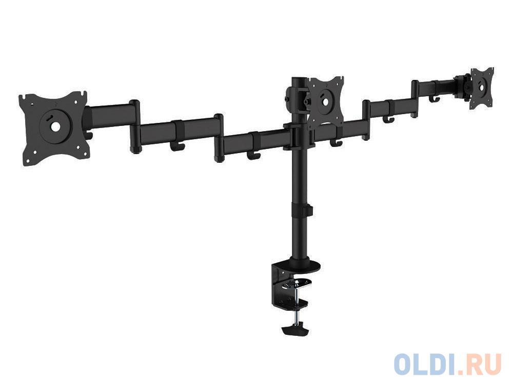 Фото - Кронштейн для мониторов Arm Media LCD-T15 Для 3-Х 10-32, max 3x10 кг, 5 ст свободы, поворот на штанги 360°, высота штанги 450мм, maxVESA100x100мм кронштейн для мониторов arm media lcd t42 black