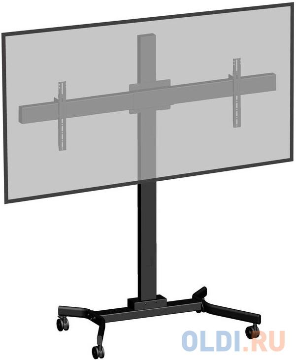 Фото - [M263VC] Мобильная стойка 2х1 для видеоконференций Wize M263VC для дисплеев 32 46, Max VESA 400х400, высота 183 см,вертикальная регулировка, регулируемые полки, кабельный канал, наклон +15/-5°, поворот +/-6°, до 68кг(общ), черн. (5 мест) папка для бумаг remember solena 8 32 28 5 см
