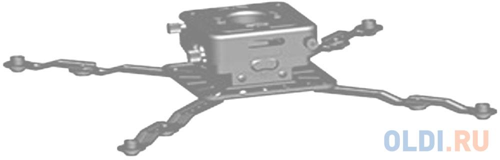 [PR3XL-S] Универсальное потолочное крепление Wize PR3XL-S для проектора с микро регулировкой вручную/без использования инструментов, максимальное расстояния между крепежными отверстиями 537 мм, наклон +/-15°, поворот +/- 8°, вращение 360°, до 32 кг, сере фото