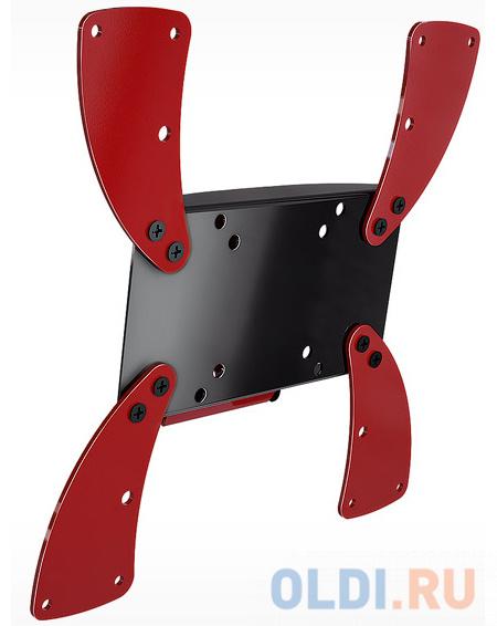 Кронштейн Holder LCDS-5058 черно-красный для ЖК ТВ 19-37 настенный от стены 37мм наклон 10° VESA 300x300 до 30 кг кронштейн holder lcd t4612 b черный для жк тв 32 65 настенный от стены 68мм наклон 8° 17° vesa 400x400 до 40 кг
