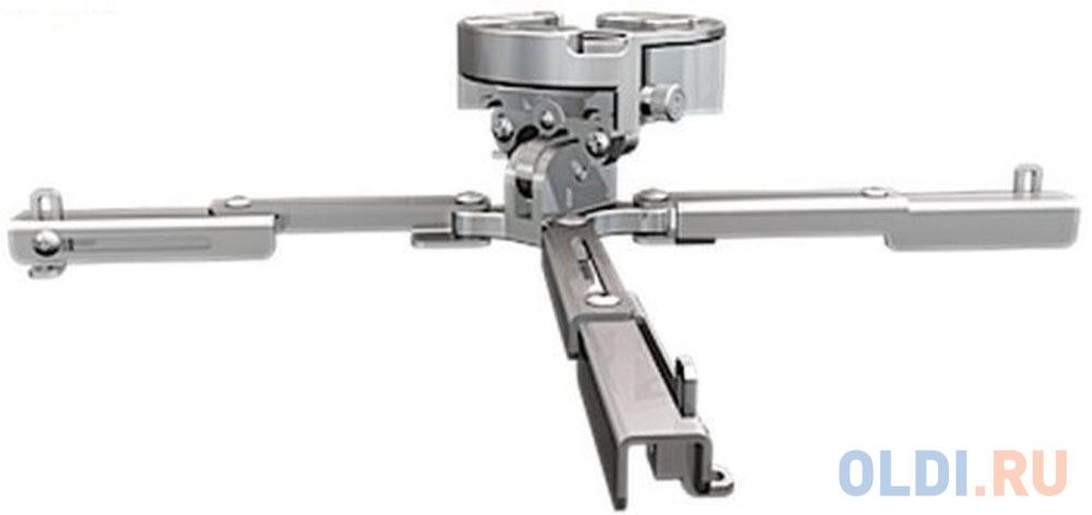 Фото - [PR-UNV-S] Универсальное потолочное крепление Wize Pro PR-UNV-S для проектора, максимальное расстояние между крепежными отверстиями 430 мм, наклон +/- 25°, поворот +/- 6°, вращение 360°, до 23 кг, серебрист. универсальное потолочное крепление wize wth140