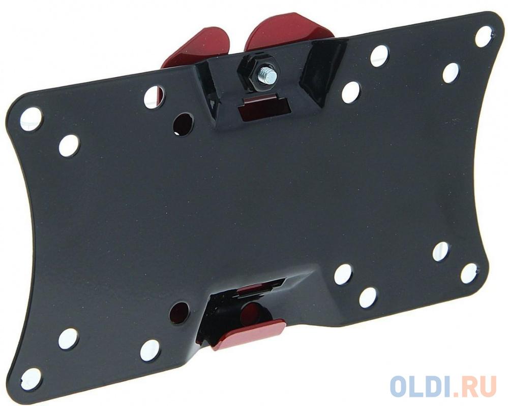 Кронштейн Holder LCDS-5060 черный для ЖК ТВ 19-32 настенный от стены 18мм наклон 5° VESA 200x100 до 30 кг кронштейн holder lcds 5064 черный для жк тв 19 32 макс 200x100 наклон 15 25° поворот 350° 2 колена до 30 кг