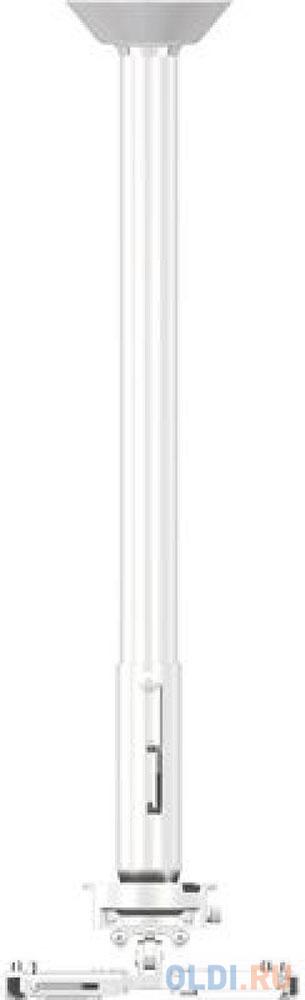 Фото - [PR24A-W] Универсальный потолочный комплект Wize Pro PR24A-W состоящий из крепления+штанги 46-61 см +площадки к потолку для проектора, макс. расстояние между крепежными отверстиями 430 мм, наклон +/- 25°, поворот +/- 6°, вращение 360°, до 23 кг, белый. потолочный комплект для проектора wize pro для размещения на подвесной потолок на основе комплекта prg11a w штанга 15 28 см