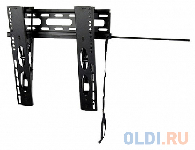 Фото - [WUT47] Универсальное наклонное настенное крепление Wize WUT47 для 26-47+ LED телевизоров, VESA 400x400, угол наклона 14°, расстояние от стены 3 см, до 20 кг, черн., розн. упаковка универсальное потолочное крепление wize wth140