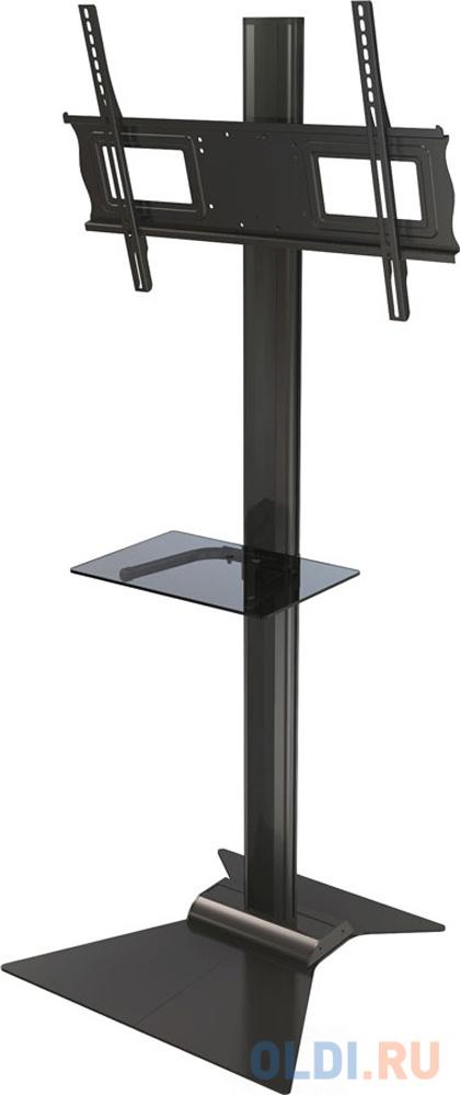 [S63] Напольная стойка Wize Pro S63 для дисплеев 37 63+, Max VESA 723х501, высота 174 см, вертикальная регулировка, регулируемые полки, кабель. канал, наклон +15/-5°, до 68 кг, черн. (4 места) [c63 60a] потолочное крепление wize c6360a для дисплеев 37 63 max vesa 723х501 наклон 20° поворот 360° длина штанги 91 152 см до 68 кг черн