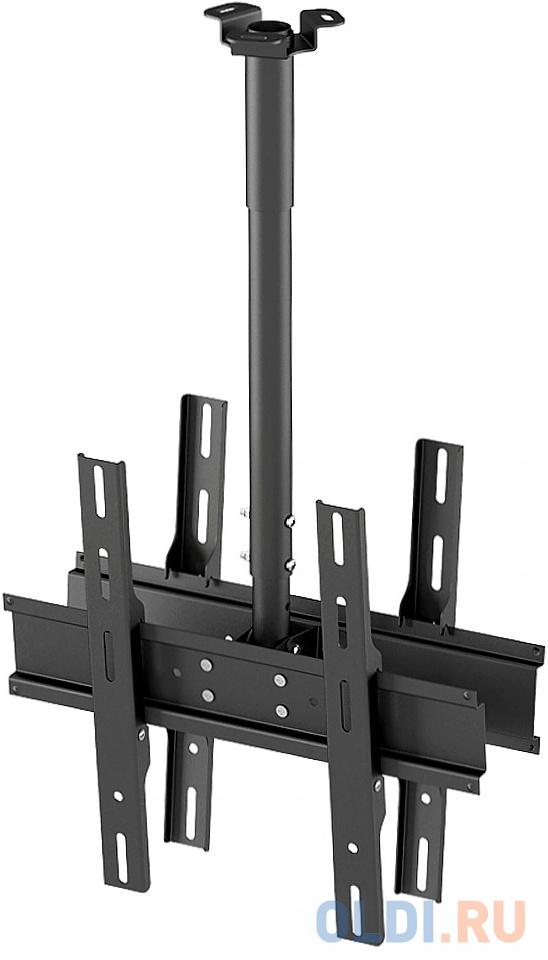 Кронштейн Holder PR-102-B черный для ЖК ТВ 32-65 потолочный фиксированный VESA 400x400 до 90 кг кронштейн holder lcd t4612 b черный для жк тв 32 65 настенный от стены 68мм наклон 8° 17° vesa 400x400 до 40 кг