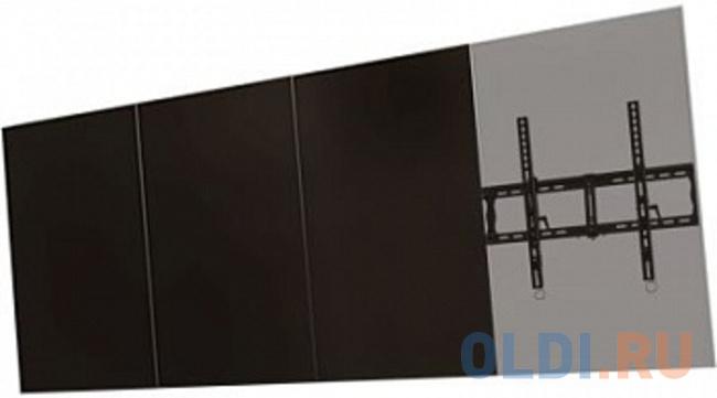 [WMP65] Модуль для расширяемой системы Wize WMP65 для настенного крепления портретной ориентации для дисплеев 60-65+ VESA 400x800, наклон +15/-5°, до 91 кг, черн. [c63 60a] потолочное крепление wize c6360a для дисплеев 37 63 max vesa 723х501 наклон 20° поворот 360° длина штанги 91 152 см до 68 кг черн