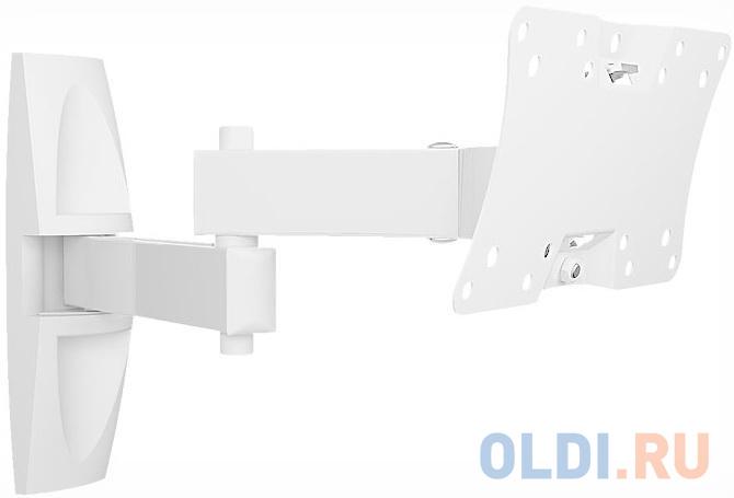Кронштейн Holder LCDS-5064 белый для ЖК ТВ 10-32 макс 200x100 наклон 15-25° поворот 350° 2 колена до 30 кг кронштейн holder lcds 5064 черный для жк тв 19 32 макс 200x100 наклон 15 25° поворот 350° 2 колена до 30 кг