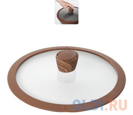 Фото - Стеклянная крышка с силиконовым ободом, 24 см, NADOBA GRETA 751313 крышка с силиконовым ободком d 24 см nadoba mineralica 751213