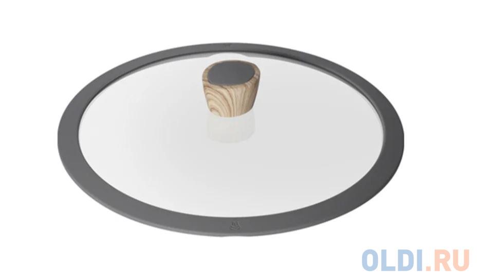 Фото - Стеклянная крышка с силиконовым ободом, 26 см, NADOBA MINERALICA 751212 стеклянная аромо крышка с силиконовым ободом 20 см nata 751515