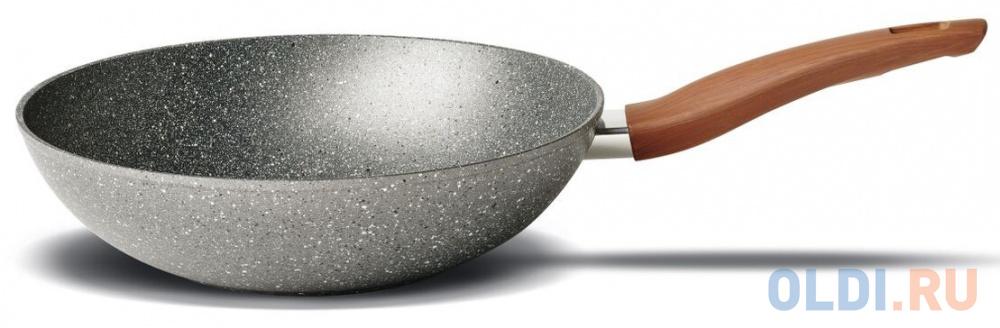 Сковорода-вок TVS Mineralia Induction Eco BS793282910301 28 см алюминий сковорода tvs mineralia induction 20 см серый