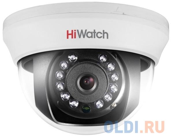 Камера видеонаблюдения Hikvision HiWatch DS-T201 6-6мм HD TVI цветная корп.:белый камера видеонаблюдения hikvision ds 2ce16h8t itf 3 6мм