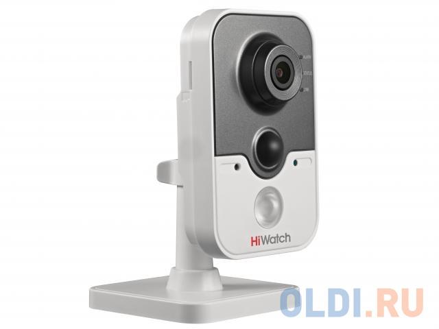 Камера IP Hikvision DS-I214W CMOS 1/2.8 2.8 мм 1920 x 1080 H.264 MJPEG Wi-Fi RJ45 10M/100M Ethernet PoE белый серый.