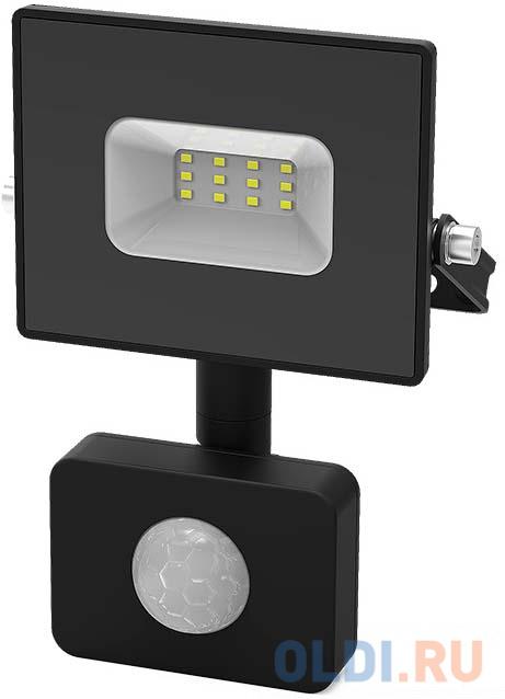 GAUSS 628511310 Прожектор светодиодный Elementary LED 10W 700lm IP65 6500К с датчиком движения 1/40 elektrostandart прожектор прожектор с датчиком 003 fl led 30w 6500k ip44