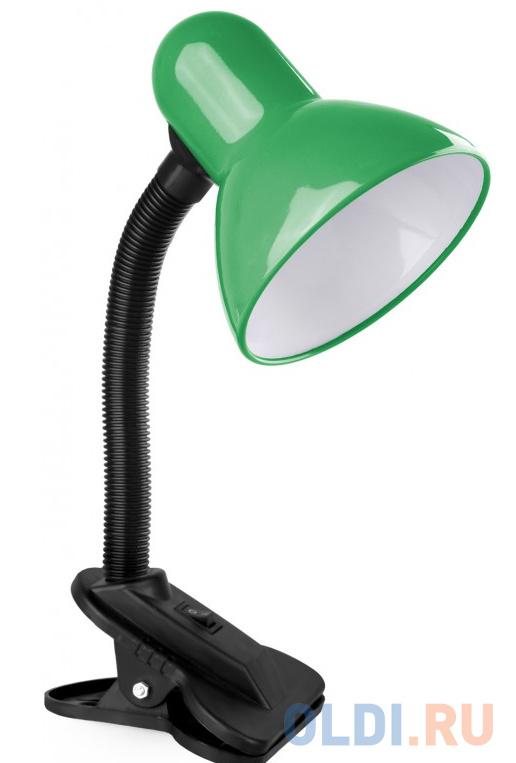 Фото - Camelion KD-320 C05 зелёный (Светильник настольный с прищепкой 230В, 60Вт, E27, ЛОН) светильники camelion настольный с прищепкой kd 320